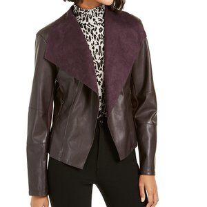 NWT Bar III Flyaway Faux-Leather Jacket XS